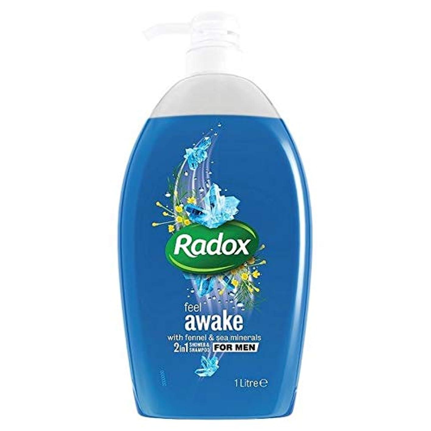 盲信クラブトイレ[Radox] Radoxは男性の2In1シャワーゲル1リットル用起き感じます - Radox Feel Awake for Men 2in1 Shower Gel 1L [並行輸入品]