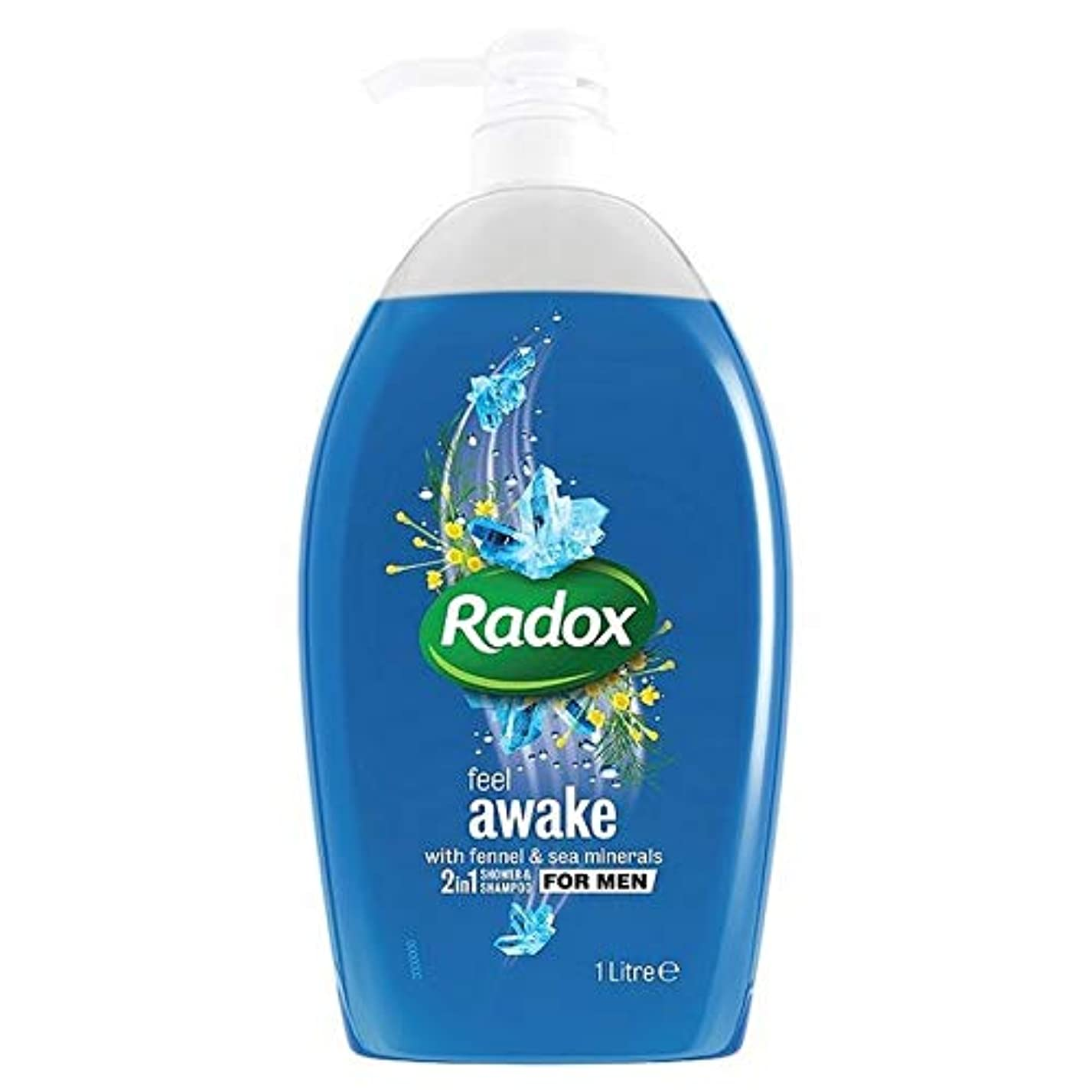 マイルお祝いマングル[Radox] Radoxは男性の2In1シャワーゲル1リットル用起き感じます - Radox Feel Awake for Men 2in1 Shower Gel 1L [並行輸入品]