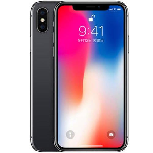au版 iPhone X 256GB スペースグレイ MQC12J/A 白ロム Apple 5.8インチ