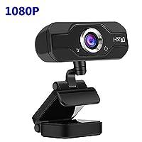 コンピュータカメラUSB Mini 1080p Webカメラwithマイクforデスクトップまたはノートパソコン 8 * 3 * 11 cm ブラック