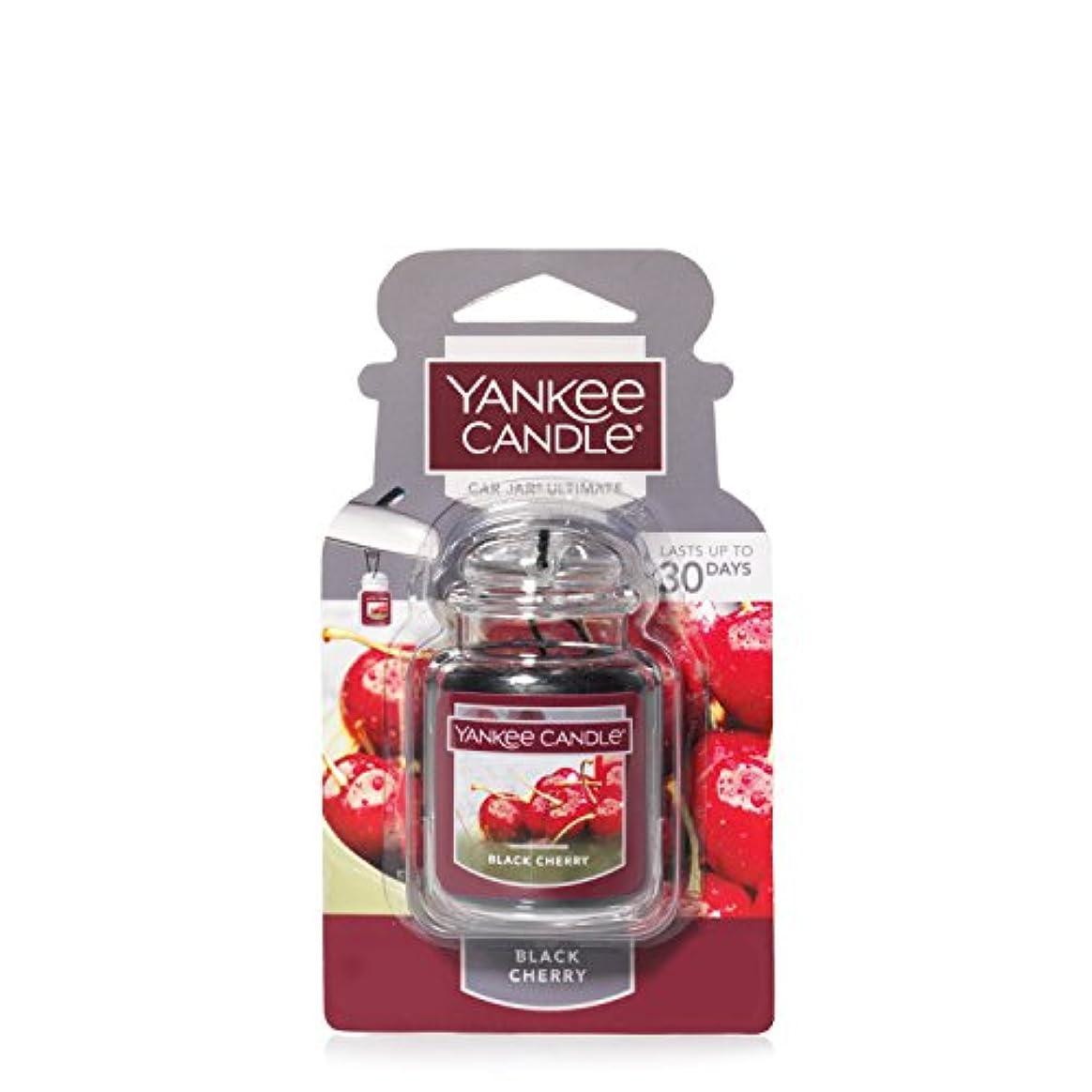 涙のスコア計り知れないYankee Candleブラックチェリー、フルーツ香り Car Jar Ultimate レッド 1221000