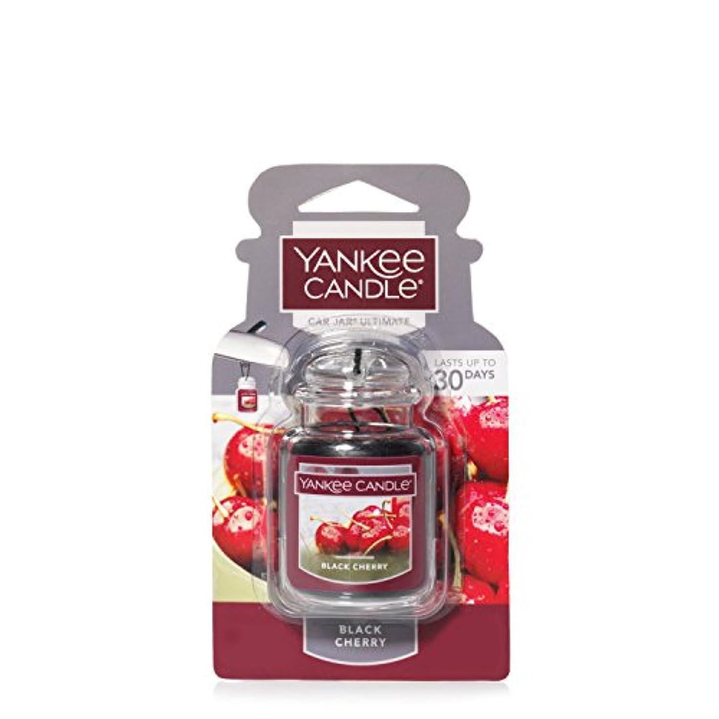 あらゆる種類のモンク厳密にYankee Candleブラックチェリー、フルーツ香り Car Jar Ultimate レッド 1221000