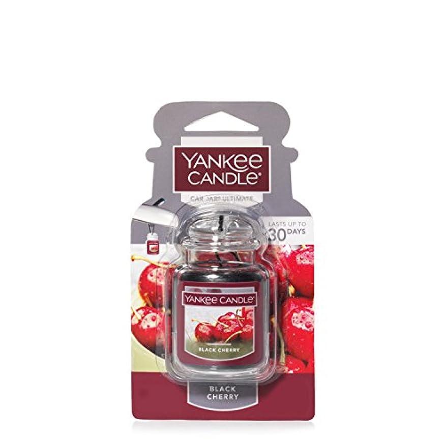 味方ヤギ敬意を表してYankee Candleブラックチェリー、フルーツ香り Car Jar Ultimate レッド 1221000
