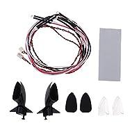 SM SunniMix 1:10スケール サイド バックミラー LEDインジケーター RCカーアクセサリー
