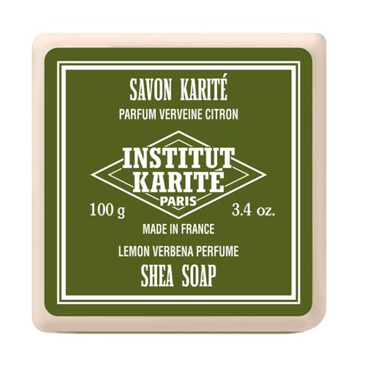 噴出する能力祈るINSTITUT KARITE インスティテュート カリテ Shea Wrapped Soap シアソープ 100g Lemon Vervena レモンバーベナ