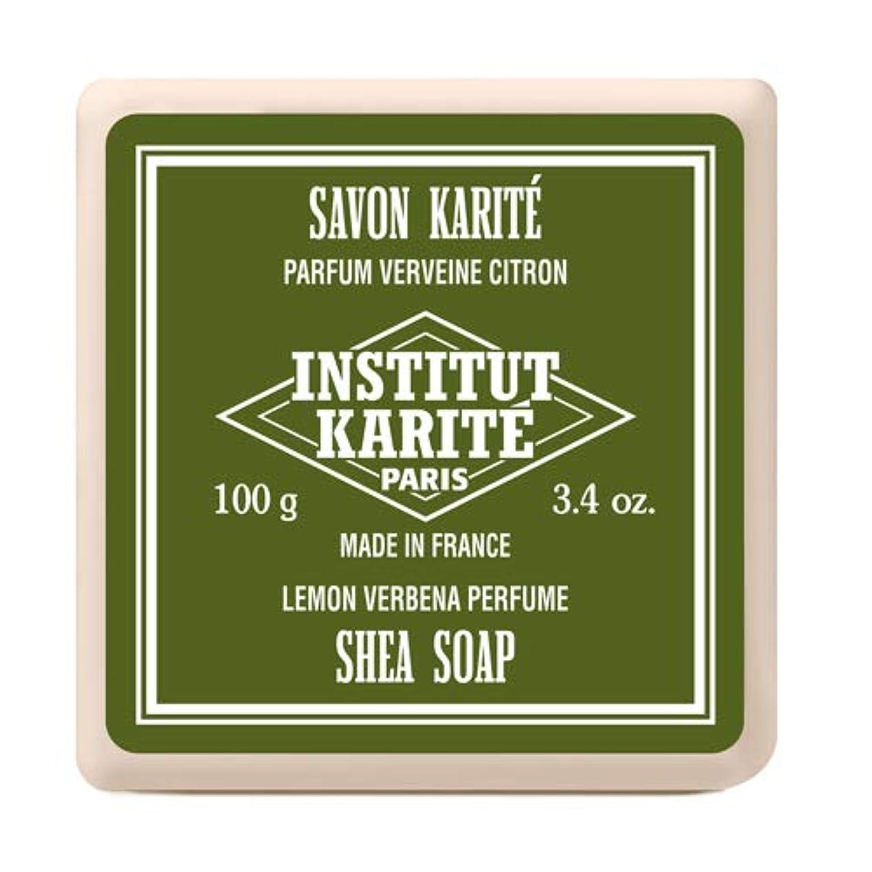 回復潮談話INSTITUT KARITE インスティテュート カリテ Shea Wrapped Soap シアソープ 100g Lemon Vervena レモンバーベナ