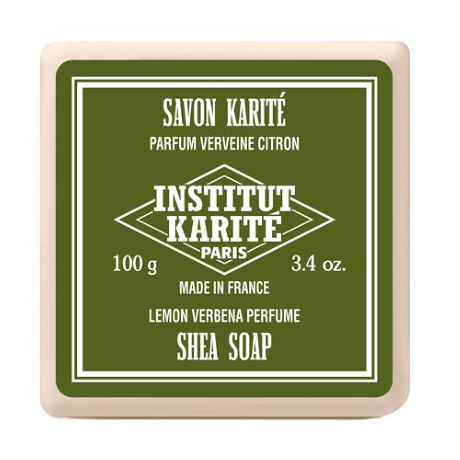 発明ランプ見込みインスティテュート?カリテ(INSTITUT KARITE) INSTITUT KARITE インスティテュート カリテ Shea Wrapped Soap シアソープ 100g Lemon Vervena レモンバーベナ