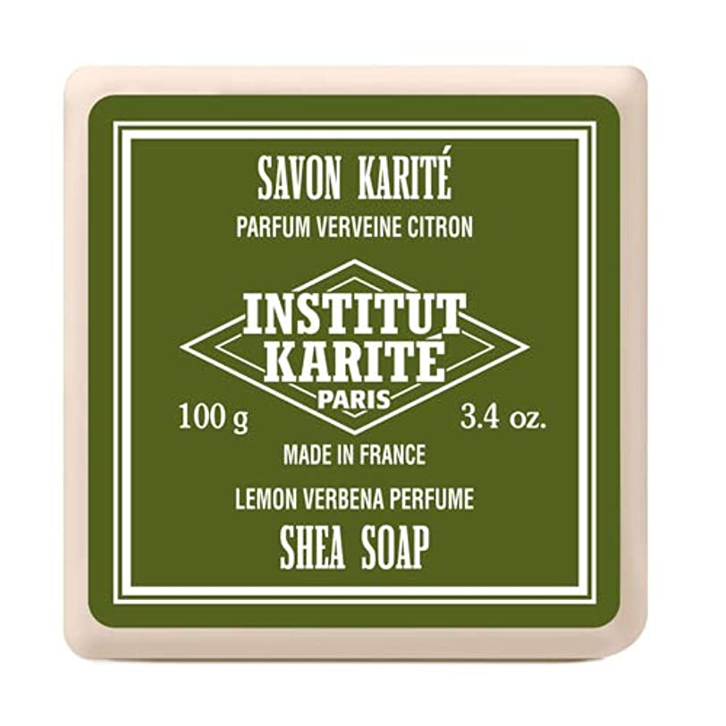 溶けるダーツトライアスリートINSTITUT KARITE インスティテュート カリテ Shea Wrapped Soap シアソープ 100g Lemon Vervena レモンバーベナ