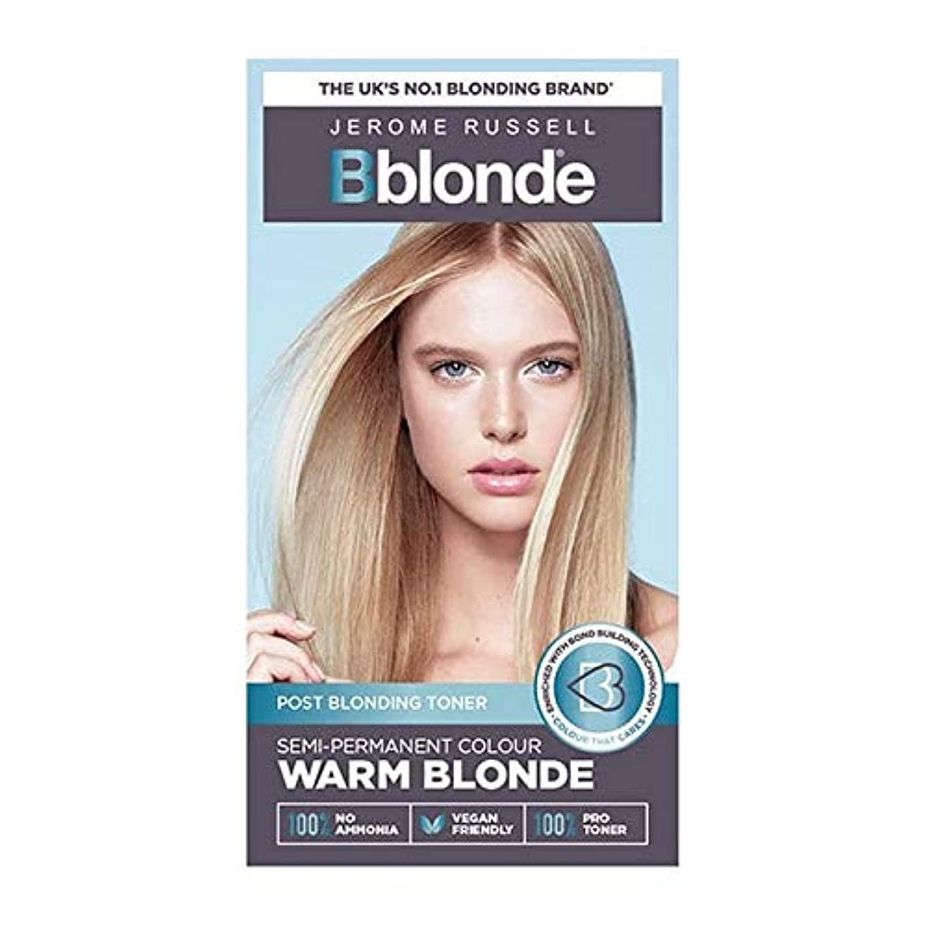 学期ブランデー珍味[Jerome Russell ] ジェロームラッセルBblonde半恒久的なトナー暖かいブロンド - Jerome Russell Bblonde Semi Permanent Toner Warm Blonde [並行輸入品]