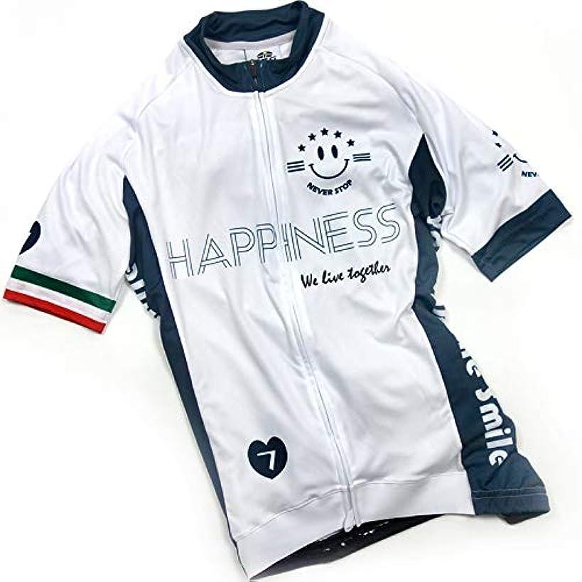 従順な失望させる驚セブンイタリア Happiness Smile III レディース Jersey ホワイト/ネイビー XS(79S-H3L-JY-WNXS)