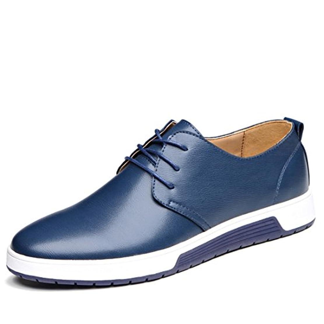 表示運命的ないとこONE MAX カジュアルシューズ メンズ ビジネス アウトステッチシューズ 大きいサイズ 紳士靴 革靴 レースアップ ウォーキング