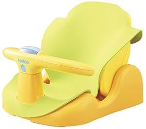 Aprica (アップリカ) バスチェア はじめてのお風呂から使えるバスチェア YE 91593 【パーツ取り外し可&やわらかマット付き】