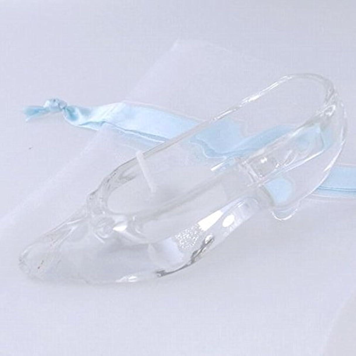 カスケード介入する細心のkameyama candle(カメヤマキャンドル) ガラスの靴 「ホワイト」(A9510050W)