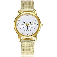 Women's Casual Watch Fashion Watch Unique Creative Watch Quartz Water Resistant/Water Proof Chronograph Casual Watch Alloy Band Analog Casual Christmas Gold - Gold One Year Battery Life