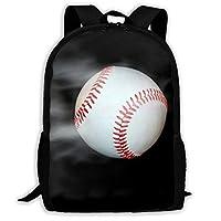 リュックサック大容量バッグパック 野球 黒 超軽量 創意柄 オシャレ通学通勤バッグ 面白い旅行バッグ 耐衝撃 撥水リュックサック メンズ レディース