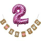 1~5歳 幼児 誕生日パーティー バナー お祝い壁 素朴なグリッター 旗 バナー ブラック ANBR0516FJW03