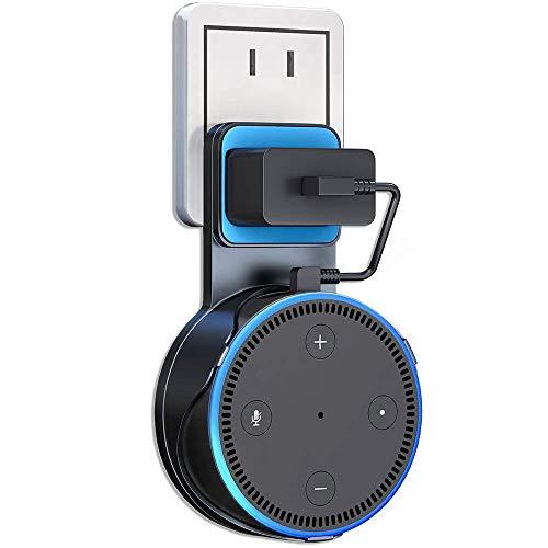【Alexa 第2世代専用】Amazon Echo Dot 壁掛け カバー 充電ケーブル付き スピーカー ハンガー ホルダー エコードット スタンド 保護ケース (?‐BU)