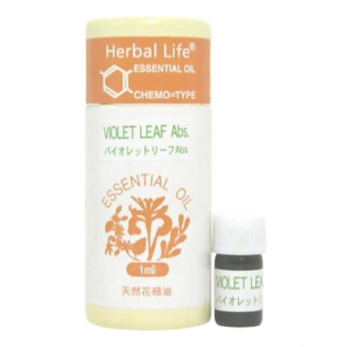 決してマラソンつづり生活の木 Herbal Life バイオレットリーフAbs 1ml 癒し用品 アロマオイル?精油 花の精油?フローラル系の香り [並行輸入品]