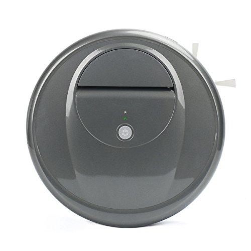 ロボット掃除機 小型 ロボットクリーナー 自動掃除機 カーペット掃除機 静音 強力吸引 落下& 衝突防止 丸型 進化版 (グレー)