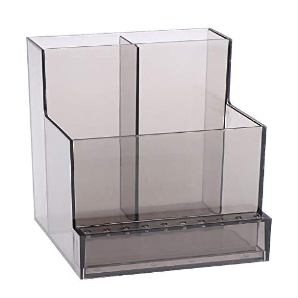 やりすぎ儀式うまくやる()ネイルアート ドリルビットホルダー スタンド ディスプレイボックス ネイルサロン 収納ボックス 2色選べ - ブラック