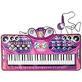 HXGL-キーボード ゲームダンスパッド子供初期の学習パズル61キーキーボードピアノカーペット学習音楽おもちゃの女の子誕生日プレゼント (色 : ピンク)