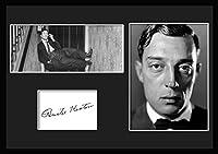 10種類! バスター・キートン/Buster Keaton /サインプリント&証明書付きフレーム/BW/モノクロ/ディスプレイ/3W (03) [並行輸入品]