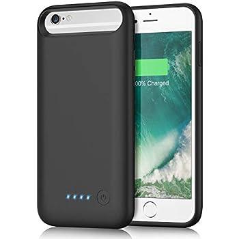 af4a5030de iPhone6/6s/7/8 対応 バッテリーケース 6000mAh 大容量 バッテリー内蔵ケース iPhone7 適応 充電ケース 急速充電  コードレス ケース型バッテリー 超軽量 4.7インチ用 ...