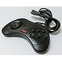 PC サターン6ボタン型USBコントローラー(ブラック)