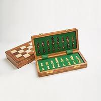 Rusticity木製チェスセットチェスボードとピース|ハンドメイド| ( 10 x 10 in )