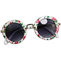 Kids Fashion Sunglasses Children's Sunglasses Anti-UV Sunglasses, Round Flowers