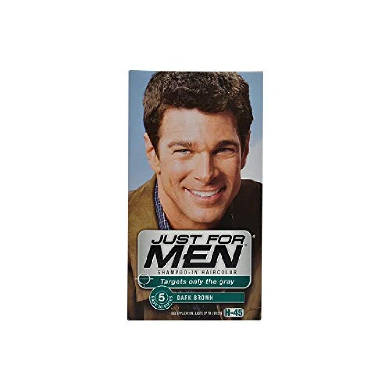 楽観ハンバーガー家Just for Men DK Brwnの#45サイズ1CT#45ダークブラウンヘアカラー