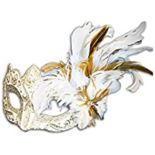 Venetian Eye Mask Colombina Ombra Piume for Women