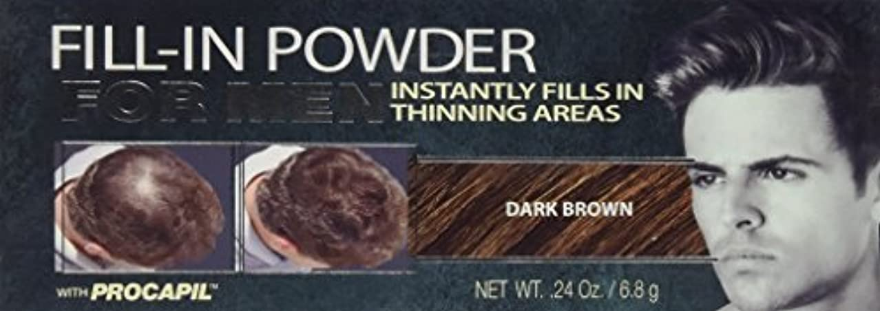 静かに効果的に劣るCover Your Gray Fill-In Powder for Men Dark Brown (並行輸入品)