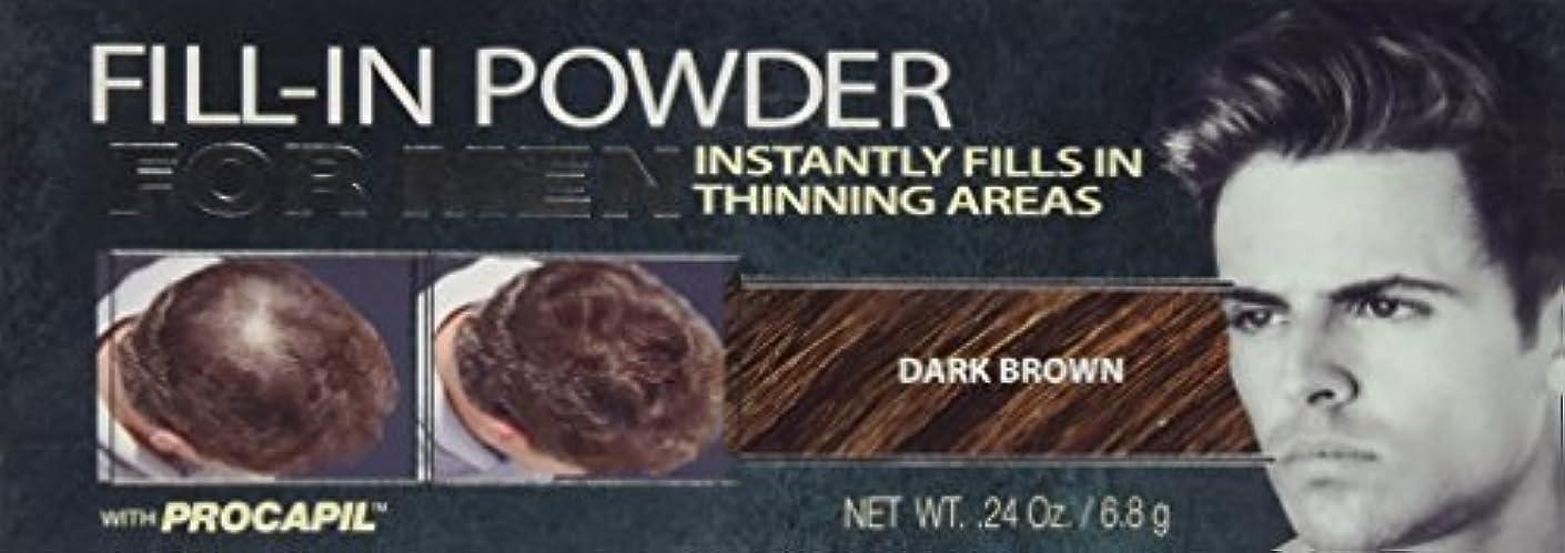征服する身元朝Cover Your Gray Fill-In Powder for Men Dark Brown (並行輸入品)
