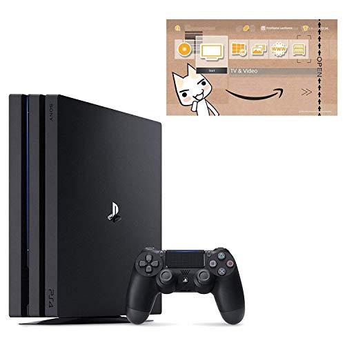 PlayStation 4 Pro ジェット・ブラック 1TB (CUH-7200BB01) お好きなダウンロードソフト2本セット(配信) & ...