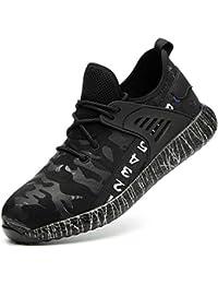 [SUADEX] 安全靴 スニ一カ一 作業靴 あんぜん靴 黒 作業 靴 工事現場 通気性 鋼先芯 耐摩耗 防刺 耐滑ソール アウトドア スニーカー ワーク シューズ セーフティーシューズ