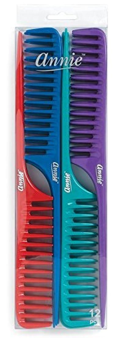 承認塊においAnnie Large Tail Comb Set, 12 Count [並行輸入品]