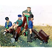 Langleyモデル4 Gardeners +ツール刈り機Wheelbarrow OOスケール未塗装キットf46
