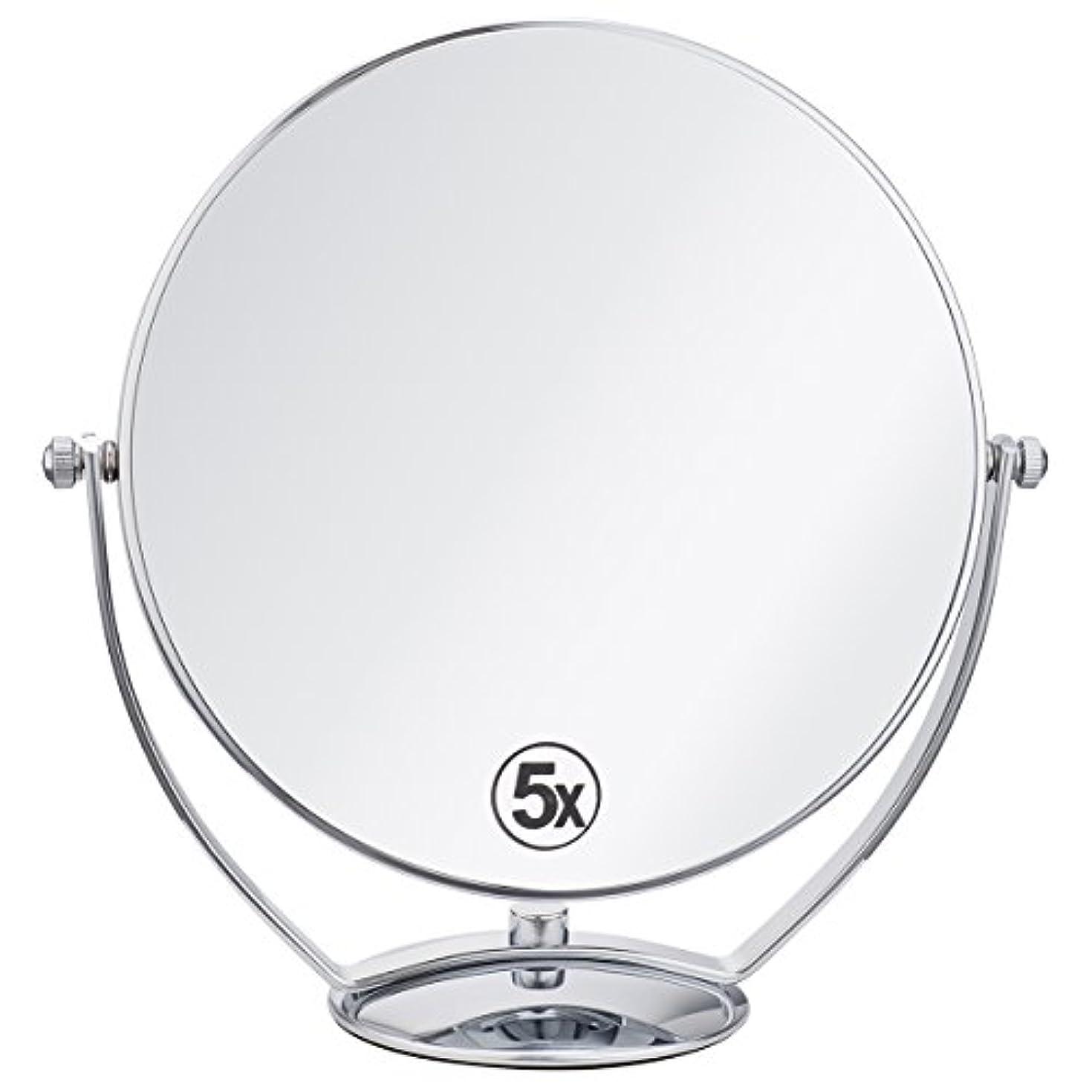 追跡深めるフォアタイプ(セーディコ)Cerdeco 西洋風鏡 真実の両面鏡DX 5倍拡大鏡+等倍鏡 両面化粧鏡 360度回転 卓上鏡 スタンドミラー メイク道具 大きい鏡面φ198mm j823