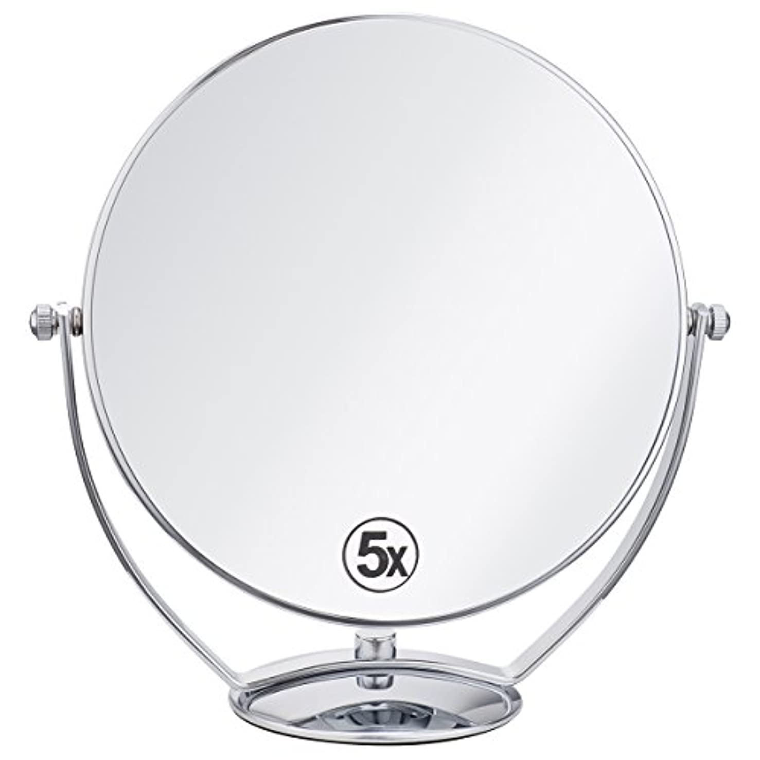 熱意会議決済(セーディコ)Cerdeco 西洋風鏡 真実の両面鏡DX 5倍拡大鏡+等倍鏡 両面化粧鏡 360度回転 卓上鏡 スタンドミラー メイク道具 大きい鏡面φ198mm j823