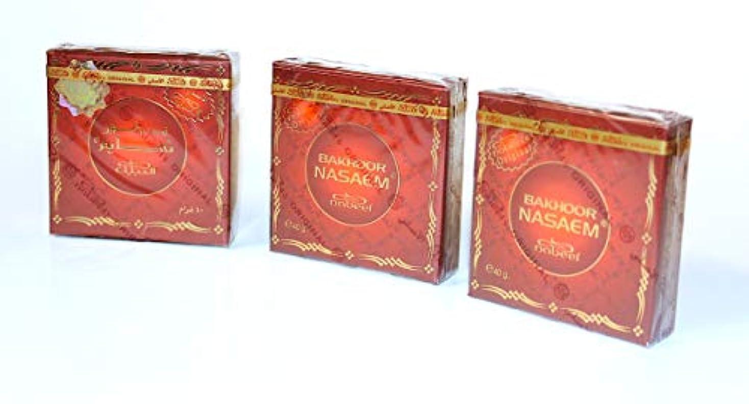 達成シダレッスン(3 Pack) - Bakhoor Nasaem Incense 40 Gm By Nabeel Perfumes (3 Pack)