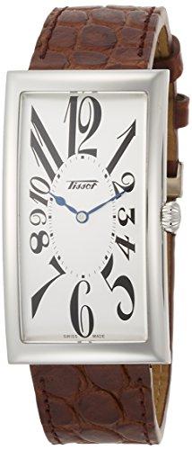 [ティソ] TISSOT 腕時計 ヘリテージ バナナ センテナリー クォーツ シルバー文字盤 ブラウンレザー T1175091603200 メンズ 【正規輸入品】