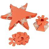 Perfeclan 12個 キャンディーボックス 紙製 DIY 装飾 3色選べ  - オレンジ