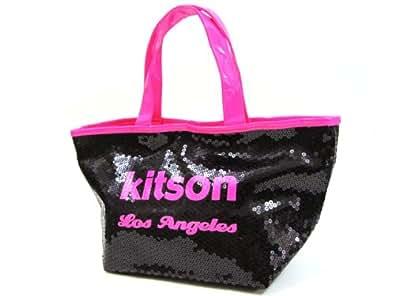 (キットソン) kitson 3575 ミニスパンコール トートバッグ ブラック×ネオンピンク [並行輸入品] [ウェア&シューズ] [ウェア&シューズ]