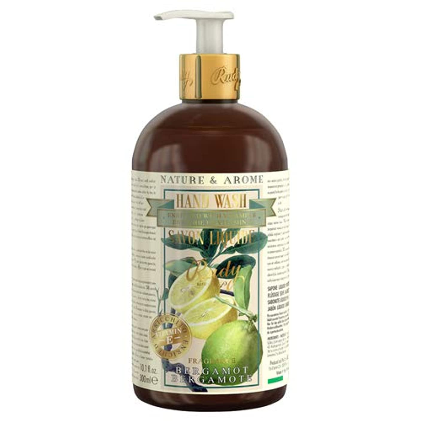 合法恥ずかしいスタンドルディ(Rudy) RUDY Nature&Arome Apothecary ネイチャーアロマ アポセカリー Hand Wash ハンドウォッシュ(ボディソープ) Bergamot ベルガモット