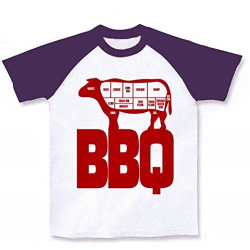 (クラブティー) ClubT BBQ ラグランTシャツ(ホワイト×パープル) S ホワイト×パープル