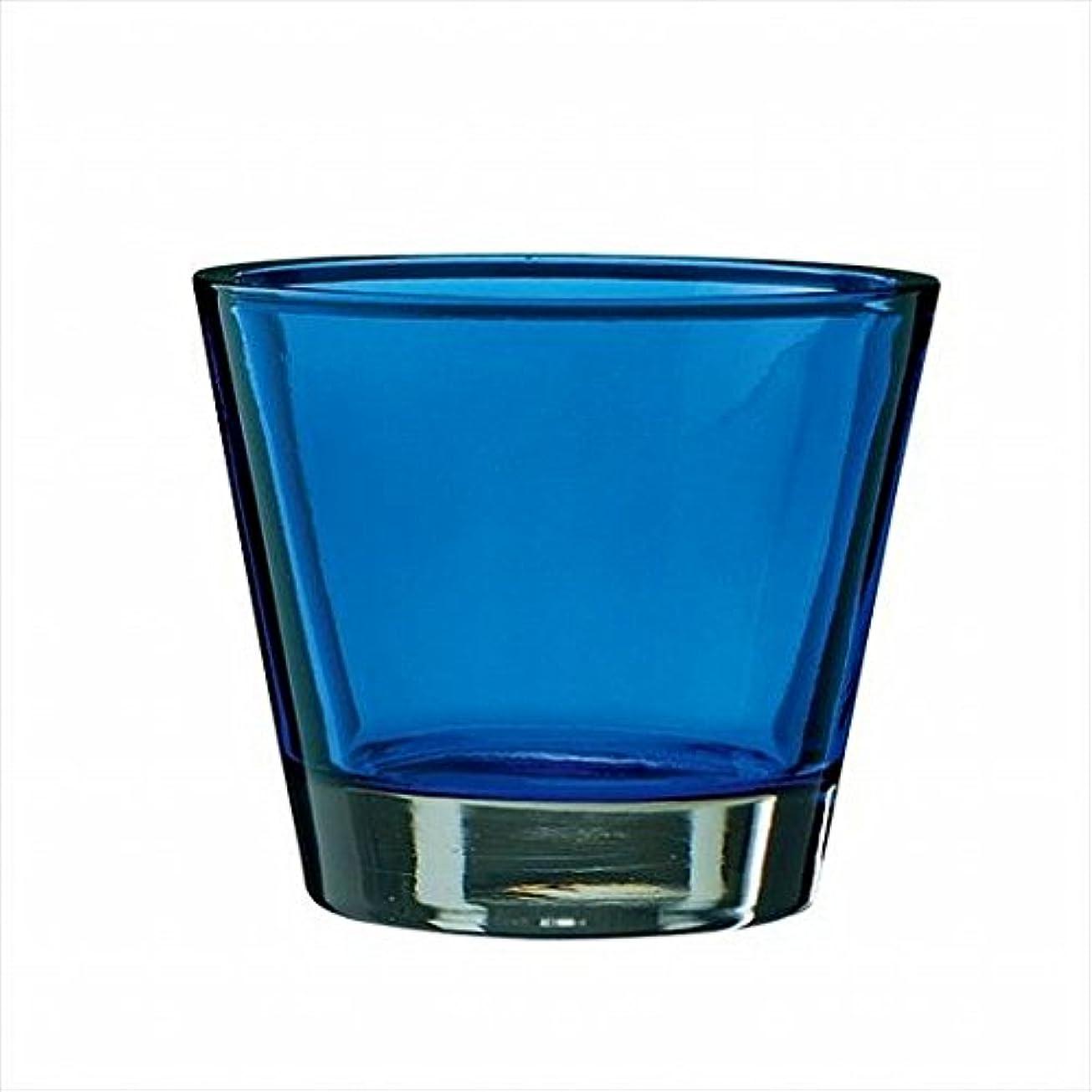 塩アシュリータファーマン儀式kameyama candle(カメヤマキャンドル) カラリス 「 ブルー 」 キャンドル 82x82x70mm (J2540000B)