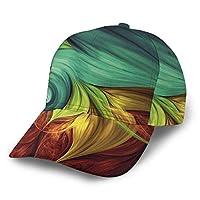 野球帽 抽象的な火 快適で通気性の調節可能なサイズの男女兼用メンズ野球帽