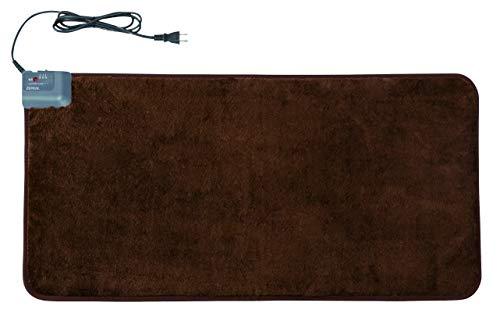 ZEPEAL ホットマット(自動オフタイマー付き) 45×90cm ブラウン DM-K4590H