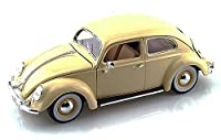 1955 Volkswagen Kafer Beetle、ベージュ – Bburago 12029 – 1 / 18 Scale Diecast Model Toy Car